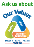 Ask us about our values